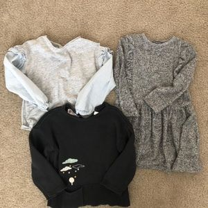 Trio of toddler girl clothes